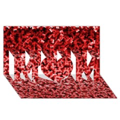 Red Cubes Mom 3d Greeting Card (8x4)