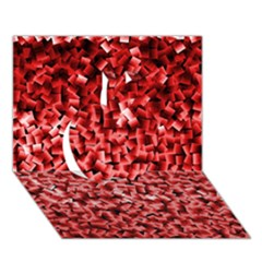 Red Cubes Apple 3D Greeting Card (7x5)