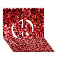 Red Cubes Peace Sign 3D Greeting Card (7x5)