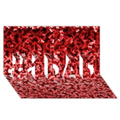 Red Cubes #1 DAD 3D Greeting Card (8x4)