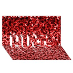 Red Cubes HUGS 3D Greeting Card (8x4)