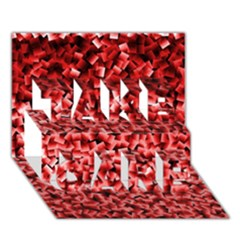 Red Cubes Take Care 3d Greeting Card (7x5)