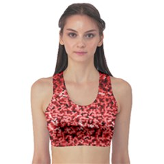 Red Cubes Sports Bra