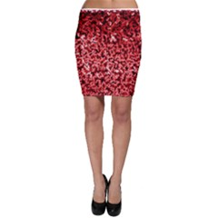 Red Cubes Bodycon Skirts