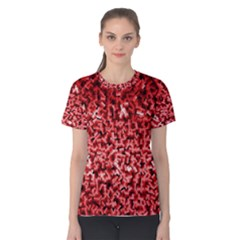 Red Cubes Women s Cotton Tees
