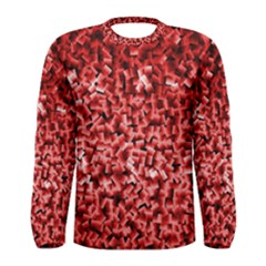 Red Cubes Men s Long Sleeve T-shirts