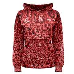 Red Cubes Women s Pullover Hoodies