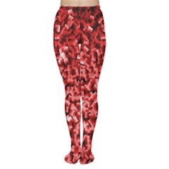 Red Cubes Women s Tights