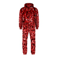 Red Cubes Hooded Jumpsuit (kids)