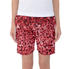 Red Cubes Women s Basketball Shorts