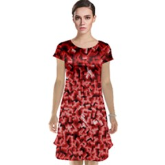 Red Cubes Cap Sleeve Nightdresses