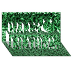 Green Cubes Happy Birthday 3D Greeting Card (8x4)