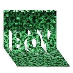 Green Cubes BOY 3D Greeting Card (7x5)