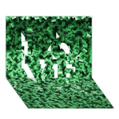 Green Cubes LOVE 3D Greeting Card (7x5)