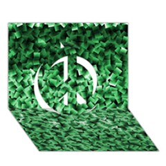 Green Cubes Peace Sign 3D Greeting Card (7x5)