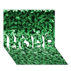Green Cubes HOPE 3D Greeting Card (7x5)