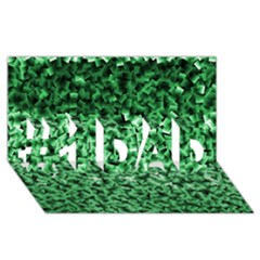 Green Cubes #1 Dad 3d Greeting Card (8x4)