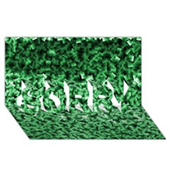 Green Cubes Sorry 3d Greeting Card (8x4)