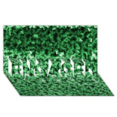 Green Cubes ENGAGED 3D Greeting Card (8x4)