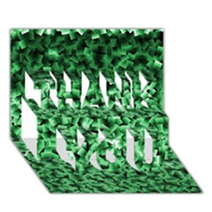Green Cubes THANK YOU 3D Greeting Card (7x5)