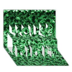 Green Cubes You Did It 3D Greeting Card (7x5)