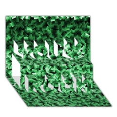 Green Cubes You Rock 3d Greeting Card (7x5)