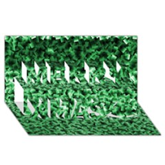 Green Cubes Merry Xmas 3D Greeting Card (8x4)