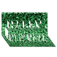 Green Cubes Happy New Year 3D Greeting Card (8x4)