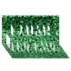 Green Cubes Laugh Live Love 3D Greeting Card (8x4)