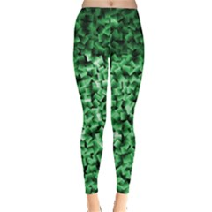 Green Cubes Women s Leggings