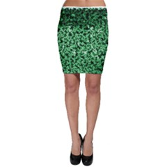 Green Cubes Bodycon Skirts