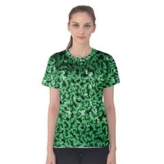 Green Cubes Women s Cotton Tees