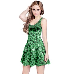 Green Cubes Reversible Sleeveless Dresses