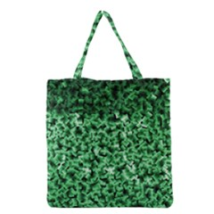 Green Cubes Grocery Tote Bags