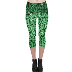 Green Cubes Capri Leggings