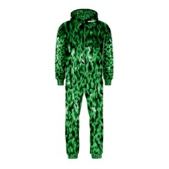Green Cubes Hooded Jumpsuit (kids)