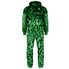 Green Cubes Hooded Jumpsuit (Men)