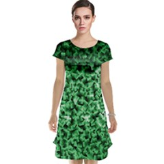 Green Cubes Cap Sleeve Nightdresses