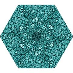 Teal Cubes Mini Folding Umbrellas