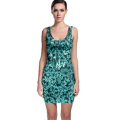Teal Cubes Bodycon Dresses