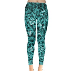 Teal Cubes Women s Leggings