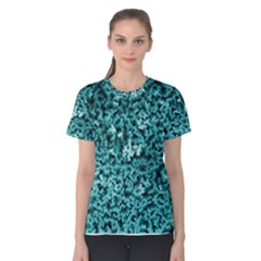 Teal Cubes Women s Cotton Tees