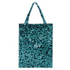 Teal Cubes Classic Tote Bags