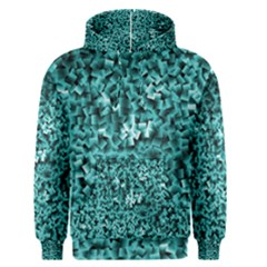 Teal Cubes Men s Pullover Hoodies