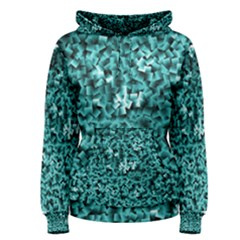 Teal Cubes Women s Pullover Hoodies