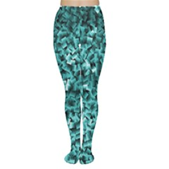 Teal Cubes Women s Tights