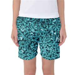 Teal Cubes Women s Basketball Shorts