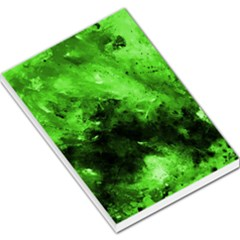 Bright Green Abstract Large Memo Pads