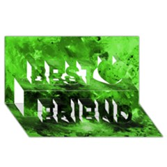 Bright Green Abstract Best Friends 3d Greeting Card (8x4)