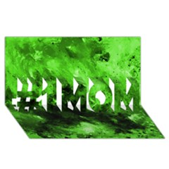 Bright Green Abstract #1 MOM 3D Greeting Cards (8x4)